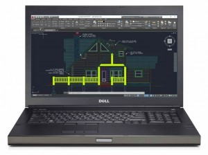 Dell Precision 17' M6800 i7 16GB 1TB K3100 10P CAD