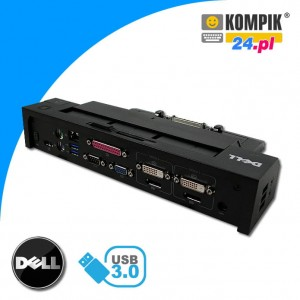 STACJA DOKUJĄCA DELL PR02X E-Port PLUS USB 3.0COM LPT PS2 Display Port DVI Dual Monitor